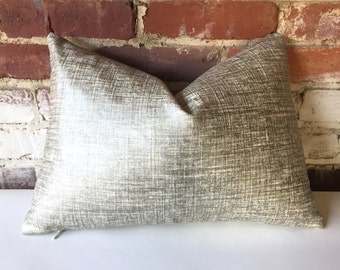 Metallic Linen Pillow Cover in Platinum/silver or Copper/gold  12x18 12x21 16x16 18x18 20x20 16x26 22x22 24x24 26x26 28x28 14x36-345Y