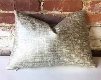 Metallic Linen Pillow Cover in Platinum/silver Teal/Silver or Copper/gold  12x18 12x21 16x16 18x18 20x20 16x26 22x22 24x24 26x26 28x28-345Y