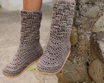 """Kids Crochet Slipper PATTERN ONLY, """"basketweave slipper"""", childrens slippers, crochet pattern, childs, kids sizes, childs crochet slippers"""