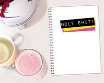 Holy Shit! // Holy Chic! piral notebook - Geek - Nerd -  Tumblr - book lover Gift