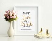 Bar Wedding Sign, Wedding Bar Sign, Gold Bar Sign, Gold Wedding Sign, Wedding Hashtag Sign, Wedding Hashtag, Chic Wedding Sign, Cute Wedding
