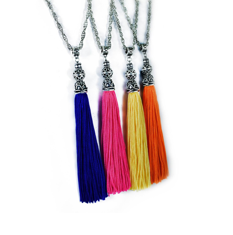 Summer Tassel Necklace Long Tassel Fringe Ethnic Tribal