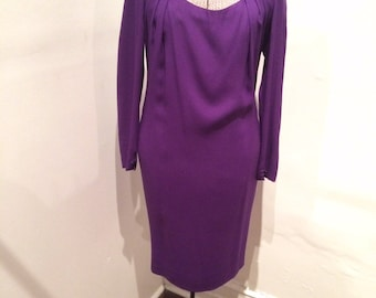 VINTAGE NINA RICCI purple wool dress