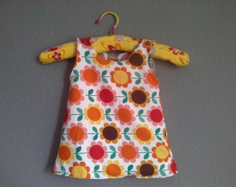 Electrical flower child baby Hippie dress 62/68