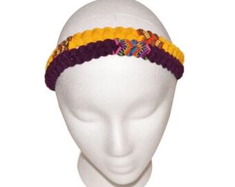 Boho headband bracelet, Braided headband, Guatemalan headband, Colorful headband, Braided headband or bracelet, Tribal headband or bracelet