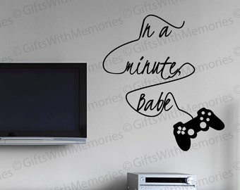 Gamer Wall Decal - Video Game Wall Decal - Game Controller Decal - Game Room Decal - Funny Video Game Wall Sticker