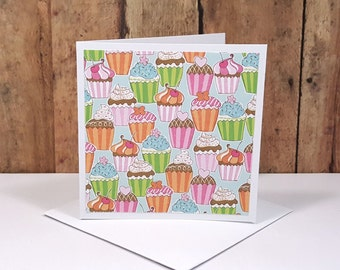 Cupcake Mini Cards, Blank Note Cards,  Enclosure Cards, Small Note Cards, Small Birthday Cards, Cupcake Gift Tags, Mini Envelopes, Set of 4
