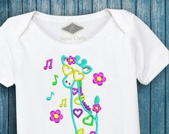 50% OFF Cool Giraffe | Machine Embroidery Applique Design 4 Sizes