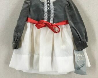 KIDS Vintage New Old Stock Polly Flinders 1960's Toddler Dress Size T2 USA