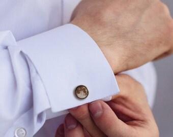 Moon Men's Cufflinks - Astronomy Cufflinks - Space Cufflinks - Gift For Men's - Men's Accessories - Men's Jewelry - Steampunk Cufflinks