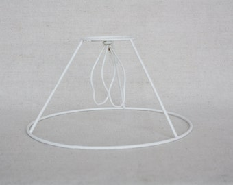 Vintage lamp shade Metal wire frame Lamp shade Wire frame Lampshade frame Craft supplies Shabby chic