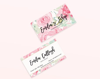Watercolor Business Cards , Floral Business Cards , Calligraphy Logo Cards , Calling Cards.