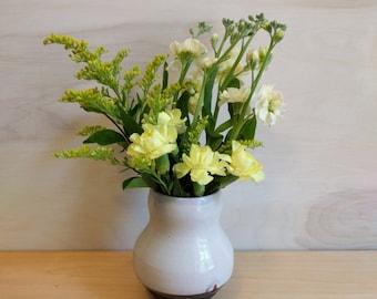 Small Vase – Bud Vase – Light Lavender Vase – Light Purple Vase - Ceramic Bud Vase - polka dot vase