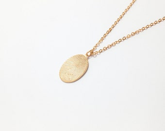 20% off Fingerprint Necklace / Fingerprint Jewelry / Bereavement Jewelry / Unique Sympathy Gift in Sterling Silver / JN36