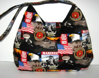 HOBO BAG, HOBO Purse, Military Purse, Military Handbag, United States Marines, Shoulder Bags, Ready To Ship