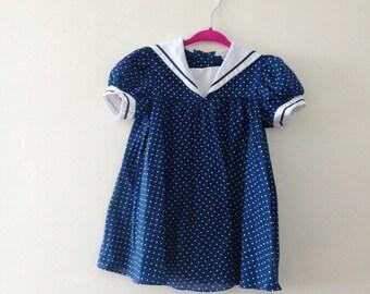 "Vintage 1950s ""Cinderella""  Sailor Dress - Size 3T"