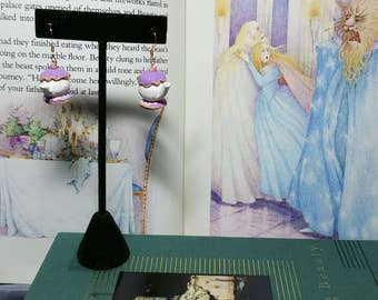 Enchanted Rose Teapot Earrings