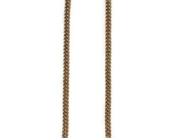 Golden Chain Earrings, Chain Earrings, Long Golden Earrings, Long Chain Earrings, Long Earrings