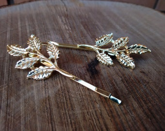 Leaves Hair Pin - Wedding Hair Style - Trending Hair Pin - Boho Hair