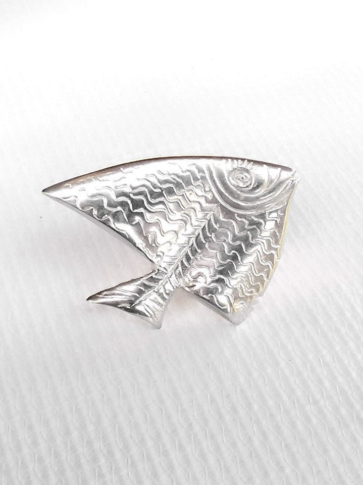 big tropical fish ring silver fish ring jewelry