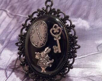 Alice in Wonderland Necklace, Alice in Wonderland Charms Necklace, Alice