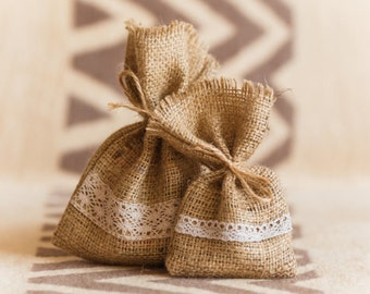 20 Wedding Rustic Favor Bags,Burlap Wedding Favor, Cotton Favor Bag, Rustic gift bag, soap bags, eco bag