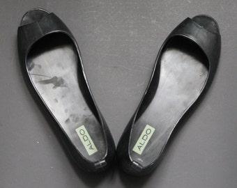 Black plastic Shoes / Plastic shoes / Plastic sandales /Open Toe shoes/ Open Toe black shoes/Black Ballerina