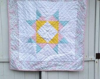 Star Quilt, Missouri Star Quilt, Modern Baby Quilt, Toddler Quilt,  Star Baby Quilt, Modern Blanket, Baby Bedding, Girl Quilt, Pink Quilt