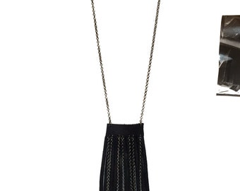LEATHER FRINGE NECKLACE