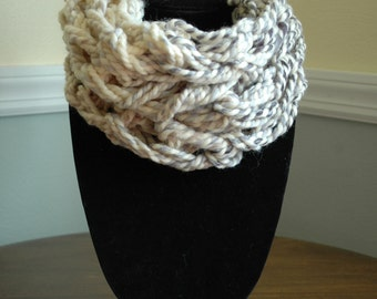 Handmade Cowl Neck/ Infinity Scarf (Cream, Tan, Grey, Black)