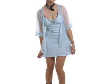 Vintage 1990's Sky Blue Babydoll and Lingerie Jacket