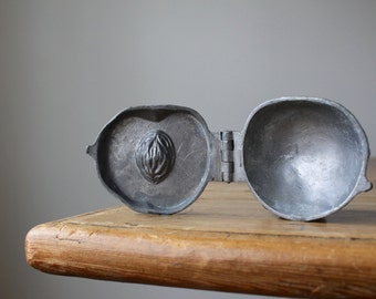 Antique Pewter Peach Ice Cream Mold, Eppelsheimer Pewter Fruit Mold #206