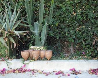 Large Handmade Stoneware Caterpillar Cluster Vessel Planter 15-070