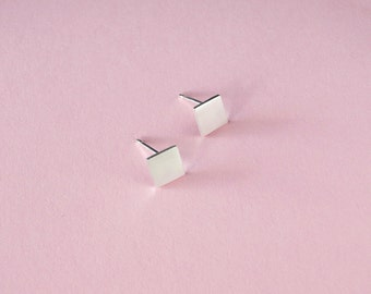 Simple earring studs, tiny geometric studs, everyday tiny studs, stud earring set, minimal silver studs, mismatched studs stud earrings tiny