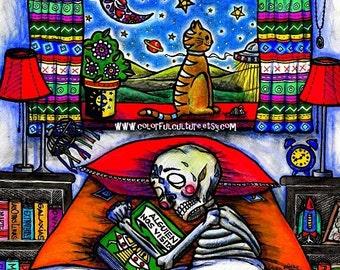 "Alguien nos Observa / Somebody is Watching Us""-Art Print by LAURA GOMEZ- 8""x10"" Or 11x14""-Day of the Dead- Dia de los Muertos-Mexican Art"