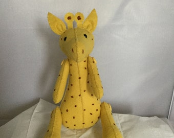 Stuffed wool felt Giraffe