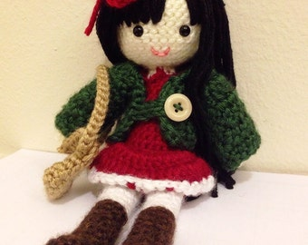 Amigurumi Anime Doll Pattern : Amigurumi Crochet Doll Pattern Japanese Kimono Doll Anime