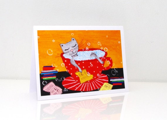 Book Birthday Card Funny Greeting Cards Kids By Artbyasta