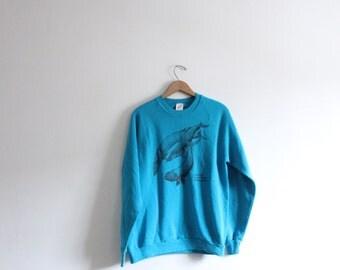 Humpback Whale Pod 90s Sweatshirt