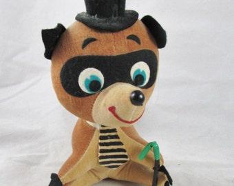 Velveteen Raccoon Stuffed Animal Dream Pet Type Character Toy