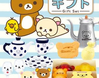 2015 / Full Set Of 8 / Re-ment / Rilakkuma / Gift Set / Dollhouse Miniatures Kits / Boxes / Coffee / Cakes / Birthday Gift