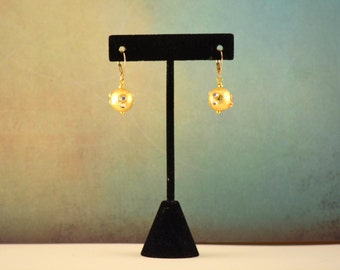 Kundan Earrings Dangly Gold Kundan dangly Bead Earrings Bridesmaid Jewelry Delicate Kundan Earrings