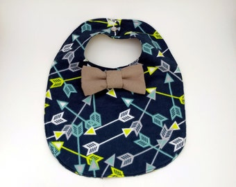 Arrow Baby Bib - Bowtie Bib - Bow tie Baby Bib - Dribble Bib - Unique Baby Shower Gift - Hipster Baby Bib - First Birthday Gift