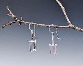 Chatri Kinetic Earrings handmade in sterling silver