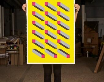 MODULE 1, limited edition screen print, 100 x 70 cm