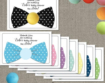 bow tie baby shower gift tags for eos lip balm gifts thank you tags