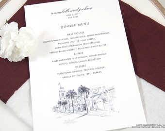 Key West Skyline Dinner Menus (Sold in sets of 25)