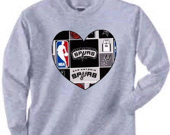 Long Sleeved San Antonio Shirt, spurs shirt, spurs baby, spurs gift