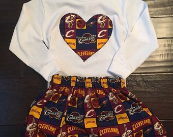 Cleveland Cavaliers Outfit, cavaliers outfit, lebrun james, cavs outfit, cleveland cavs skirt, cleveland cavs baby, cleveland cavs girl