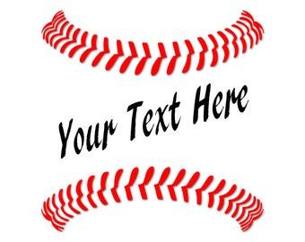 Baseball stitches - Monogram svg - Baseball svg - Baseball stitches svg - SVG baseball files - SVG designs - Baseball clip art - Sports svg